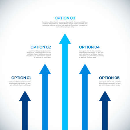 Infographics template with arrows illustration Illustration