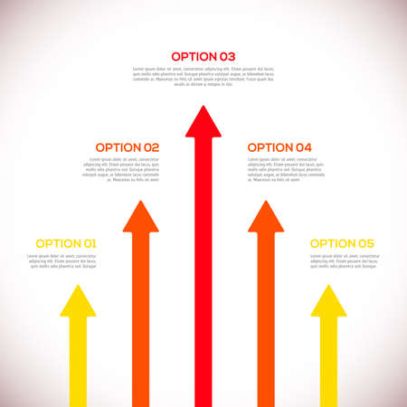 arrows vector: Infographics template with arrows.  vector illustration Illustration