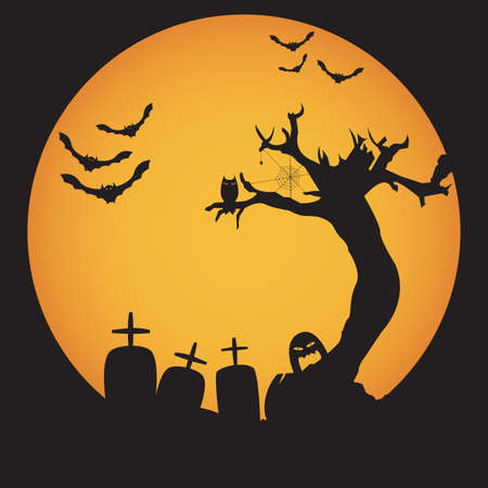 memorial cross: Grunge fondo de la noche de Halloween