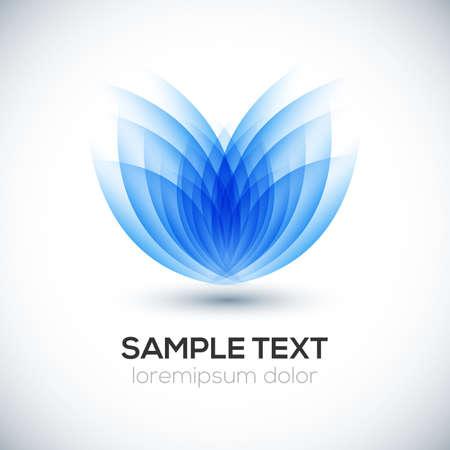 Blume 3D-Form-Illustration Standard-Bild - 22404315