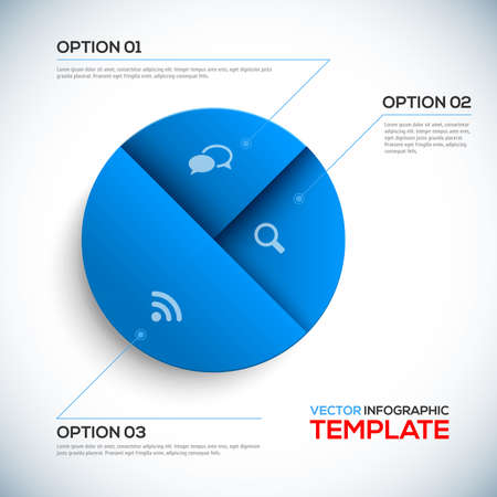 pie chart: Abstract 3D Infographic template illustration