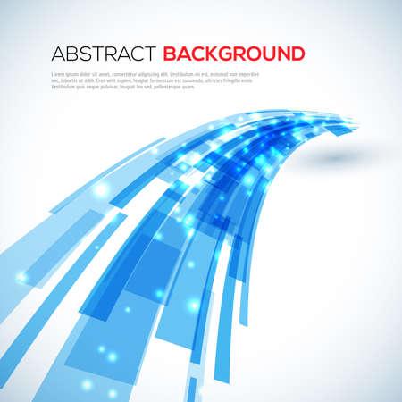 3D Moving blue abstract illustration Illustration