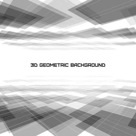 3D Geometric abstract illustration