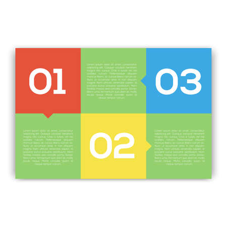 three orange: Modern Design template infographic Illustration