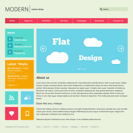 web design company: Flat Web Design Template illustration Illustration