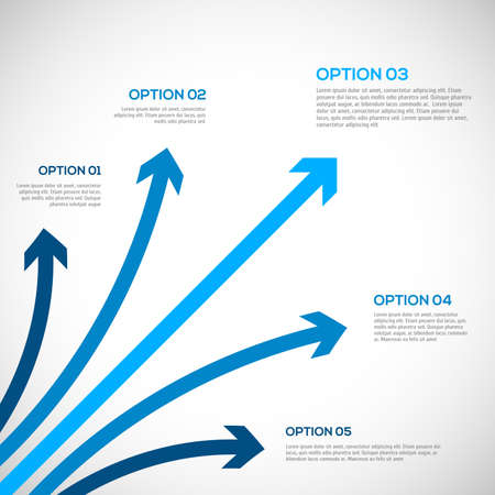 blue network: Infographics template with arrows.  vector illustration Illustration