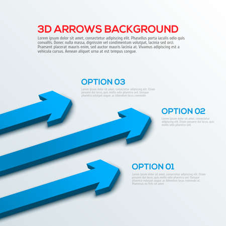 3D arrows background, infographic vector illustration