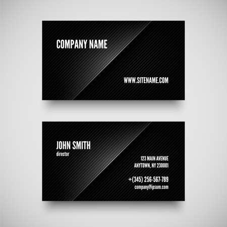 Black business card template vector illustration Illustration