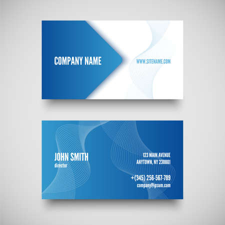 Vector business card set , elements for design. vector illustration