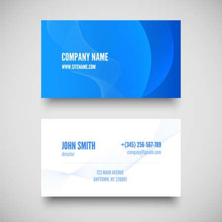Vector business card set , elements for design. vector illustration Vector