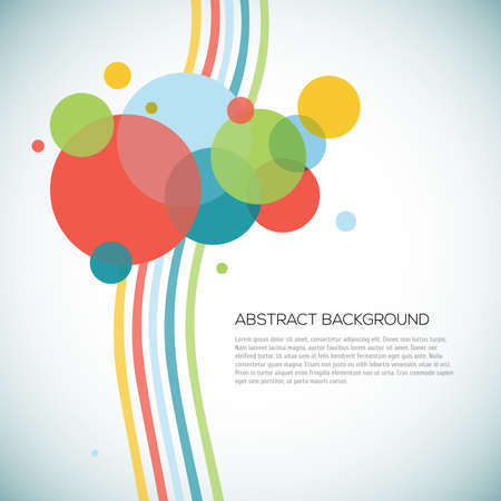 Abstract circles background with lines vector illustration Illustration