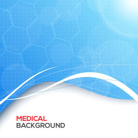 Abstract molecules medical background vector illustration for you Illustration