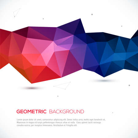 Abstract 3D geometric colorful background. Vector illustration for your design Vector
