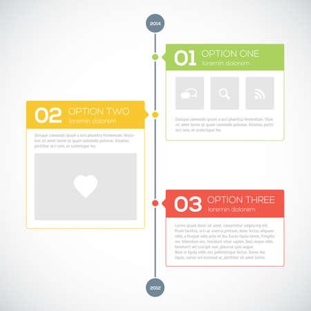grafiken: Moderne Timeline-Design-Vorlage. Vektor-Illustration für Ihr Design