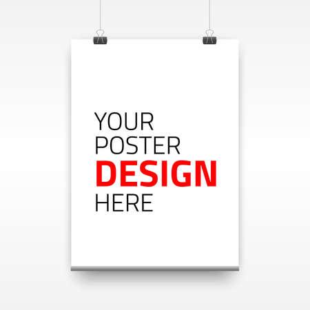 spartiti: Vector manifesto modello di un foglio di carta. Illustrazione vettoriale per i vostri progetti Vettoriali