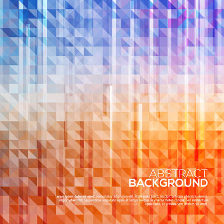 Abstract triangle background with lines. Vector illustration for your design Vector
