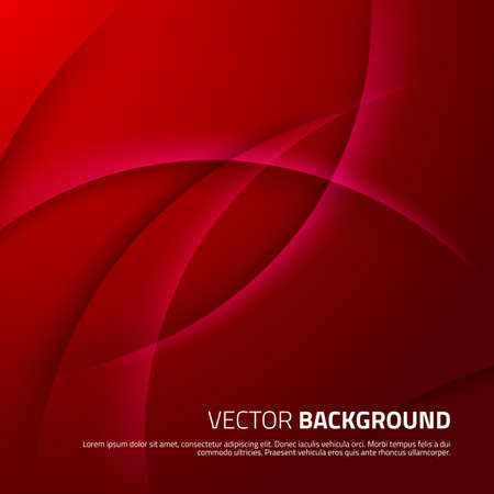 red abstract background: Red abstract background with shadows Vector illustration for your design