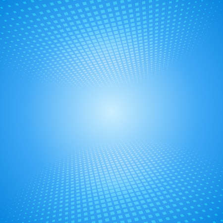 virtual space: White and blue abstract perspective background with squares. Vector illustration for your projects Illustration