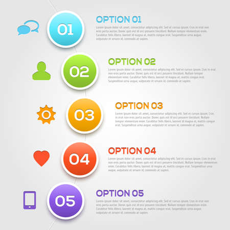 Modern infographics options template.  Vector illustralion for your design