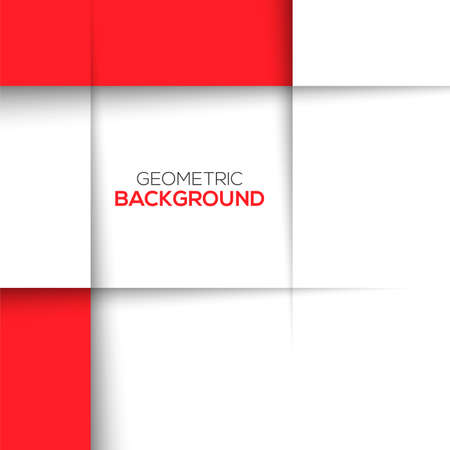 Geometric red 3D background. Vector illusatration for your design Ilustração
