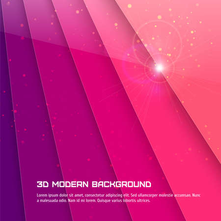 Abstract 3D background. Vector illustration for your design Illustration