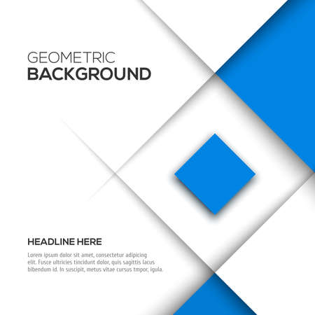 Geometric blue 3D background. Vector illustration for your design Illustration