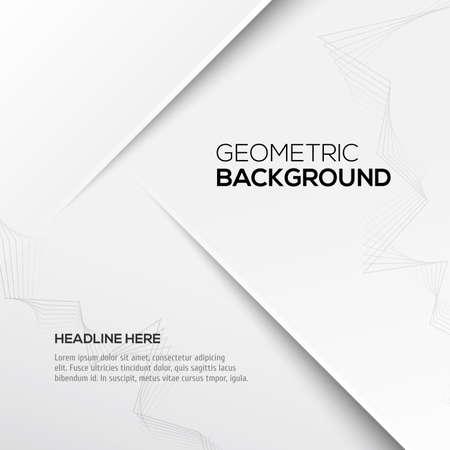 Geometric gray 3D background. Vector illustration for your design Illustration
