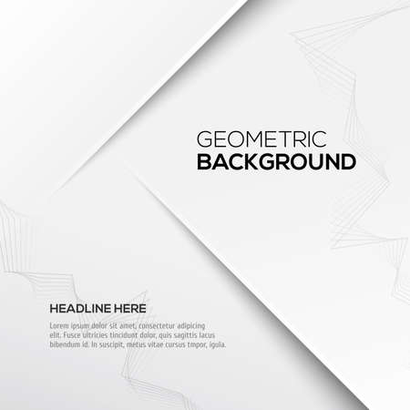 grey background: Geometric gray 3D background. Vector illustration for your design Illustration