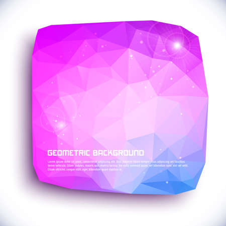 Abstract geometric 3D background. Vector illustration for your design.