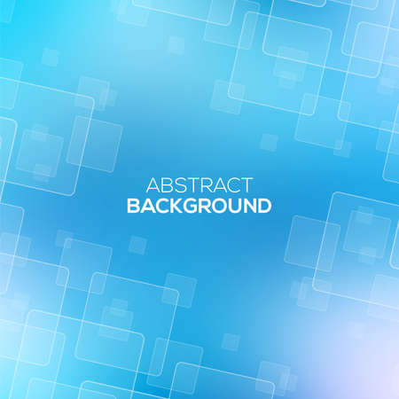 Abstract Blue background with transparent squares. Vector illustration for your design.