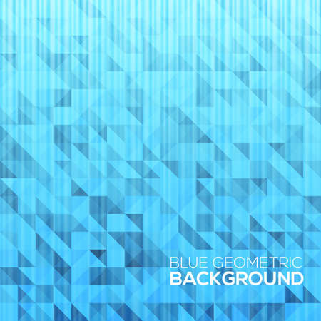 Blue modern geometrical abstract background Vector illustration for your design Vector