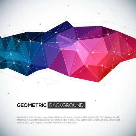 abstract: Abstracte 3D geometrische kleurrijke achtergrond. Vector illustratie voor uw ontwerp Stock Illustratie