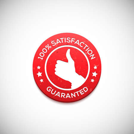 Satisfaction guaranteed label. Vector illustration for your design Illustration