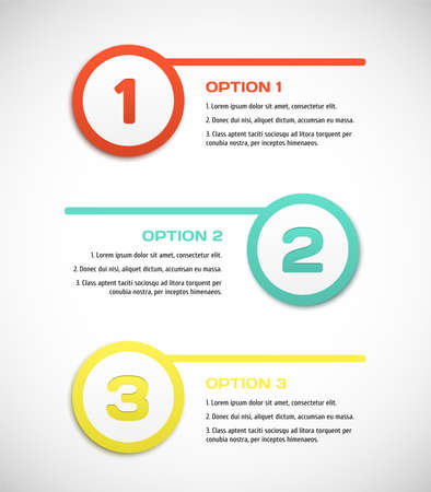 three pointer: One two three - vector progress steps. Vector illustration for your design.