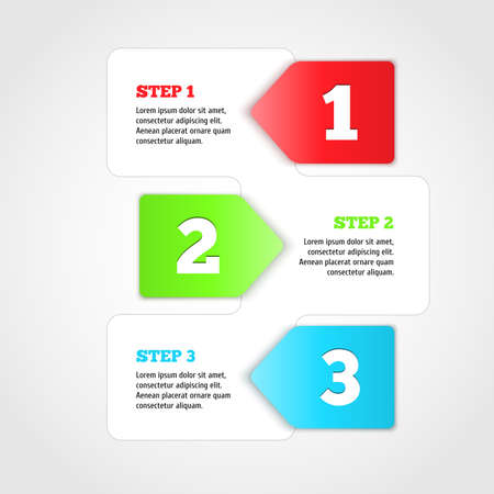 progress steps: One two three - vector progress steps.