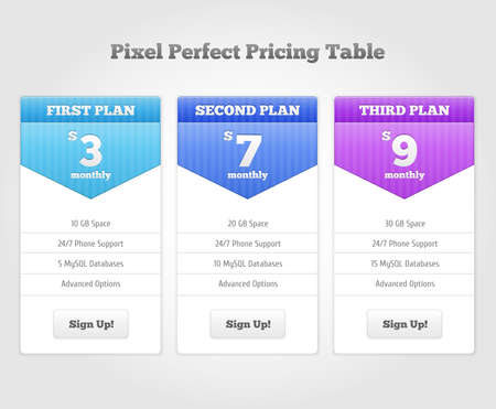 buy now: Vector Price table for commercial web services. Vector illustration for your design Illustration