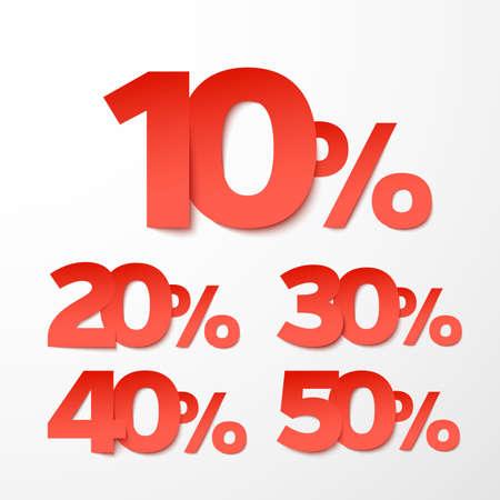 clearance sale: Sale percents.   Illustration