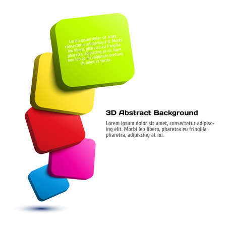 Colorful 3D rectangle background. Vector illustration for your design Vector