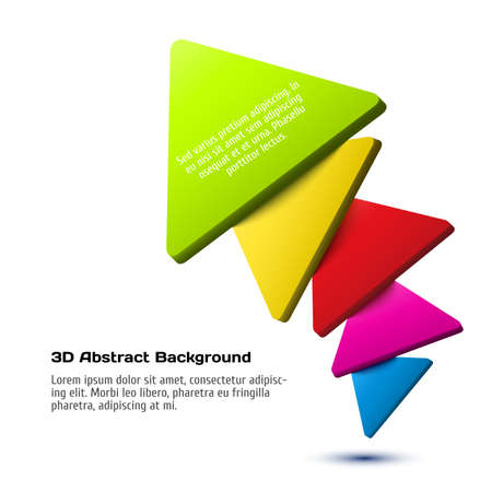 3d triangle: Colorful 3D triangle background. Vector illustration for your design