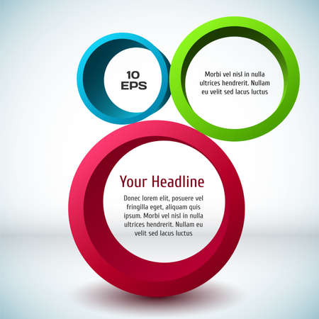 3d circle: Colorful 3D circle background. Vector illustration for your design