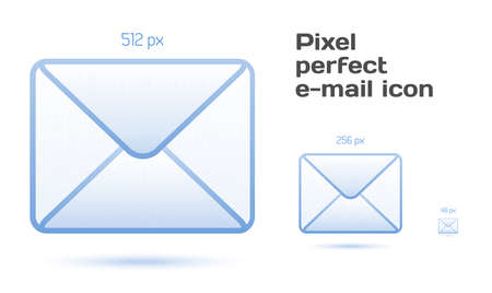 pixel perfect: Pixel perfect email icons Vector illustration for your design