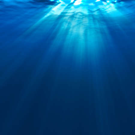 beneath the surface: Abstract underwater for your design Stock Photo