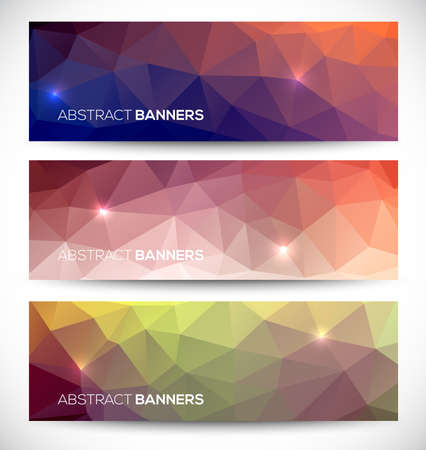 grungy header: Abstract banners collection. Geometric banneres set