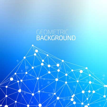 smooth background: Molecola e comunicazione di base sul fondo liscio