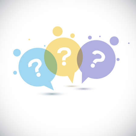 Modern Question mark icon. Vector illustration for your design