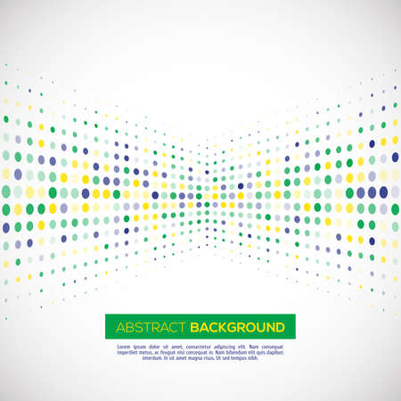 geometric halftone background in Brazil flag concept. Vector