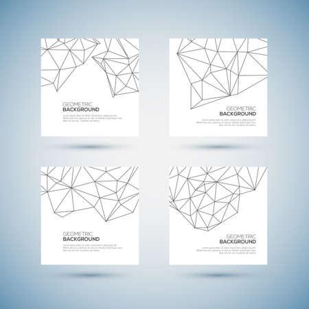 nodes: Molecule And Communication Background set Vector illustration.