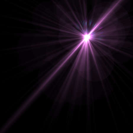 camera flash: Lens flare effect over black background for your design Stock Photo