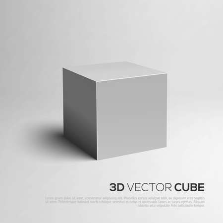 3D Cube. Vector illustratie voor uw ontwerp voor uw ontwerp Stock Illustratie