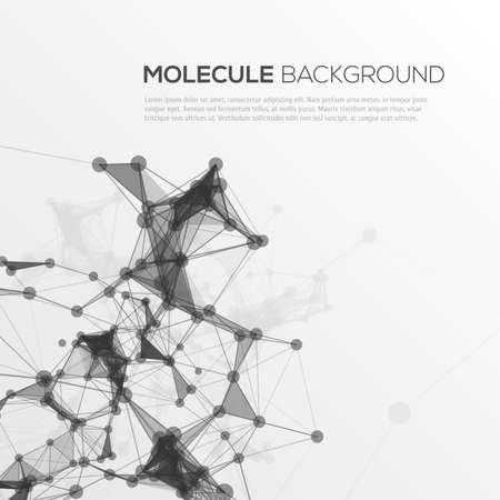 Molecule structure vector background for your design